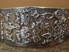 Native American Handmade Tufa Cast Sterling Silver Bracelet! Delfred Yazzie