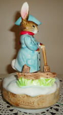 Beatrix Potter GENTLEMAN IN SNOW Music Box by Schmid, Plays TRY TO REMEMBER