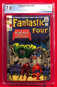 FANTASTIC FOUR #39 (Marvel 1964) PGX 7.0 Fine / Very Fine DOOM & DAREDEVIL HTF!