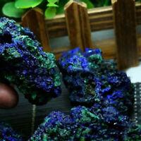 Natural Azurite Malachite Geode Crystal Mineral Specimen Reiki Stone Gem