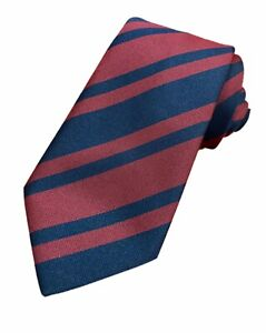 Lifetime Guarantee Royal Engineers Regiment  Woven Striped Tie RE Made In GB
