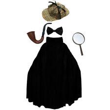 SHERLOCK HOLMES COSTUME SET DETECTIVE CAPE PIPE HAT SCHOOL BOOK DAY FANCY DRESS