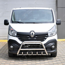 VAUXHALL VIVARO RENAULT TRAFIC 2015-2019 CHROME AXLE NUDGE A-BAR, BULL BAR