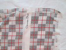 Auth Echarpe foulard Christian DIOR soie 38cm x 140cm TBEG  vintage Scarf
