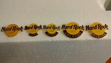 Hard Rock Cafe Lot 5 Pins Logo Rome Madrid Orlando Melbourne Classic
