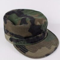 Military Combat Cap Hat Size XS 6 3/4 Camo Camouflage Fitted Cotton
