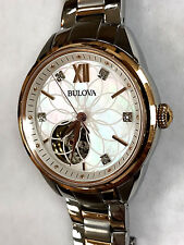 Bulova 98P170 Automatic Diamond Mother of Pearl Two-Tone Ladies Watch WARRANTY