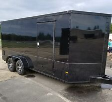 7x16 7 x 16 Enclosed Cargo Trailer BLACKOUT Black Out V-Nose 18 14 Motorcycle