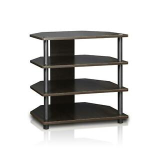 Audio Component Rack Tower Media Stereo Stand Equipment Shelves