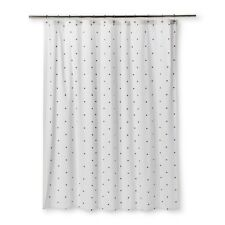 NEW Embroidered Mini Mauve Floral Shower Curtain Sour Cream - Threshold
