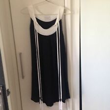 Incyda Black Dress With White Tassles, Size 12