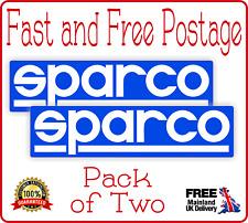 SPARCO Racing Super Bike Pegatina TT Raza Calcomanía Rally Coche Racing Pack de 2