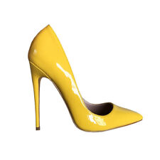 Fashion Women Pump Pointy Toe Stiletto Heels Patent Leather Party Shoes Big Size