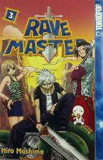 RAVE MASTER #3 JAPANESE MANGA COMICS ENGLISH HIRO MASHIMA TOKIOPOP. NEW UNREAD