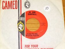 """ROCK & ROLL 45 RPM - JO ANN CAMPBELL - CAMEO 223 - """"I'M THE GIRL FROM..."""""""