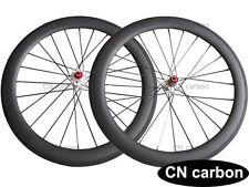 U Shape Disc Brake 60mm Clincher Carbon Cyclocross Bicycle Wheels 6 Bolts Hub