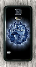 BLUE YIN AND YANG WITH DRAGON AND TIGER CASE COVER FOR SAMSUNG GALAXY S5 -jhn7Z