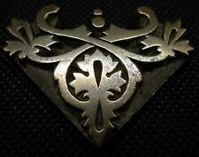Geometric Art Form Letterpress printing block, bronze/brass 19th Century Pendant