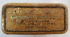 VINTAGE ANTIQUE RARE Theodore A. Kohn & Son Jewllers Box wood Saw Dust Tin