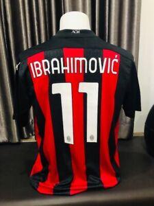 IBRAHIMOVIC #11 AC MILAN 20/21 Home Jersey Size XL