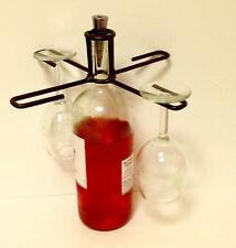 Wine Glass Holder that balances on a Wine Bottle-Bronze Finish Great Gift