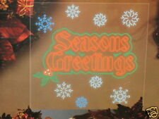 Seasons Greeting Led Holiday Accent Sign