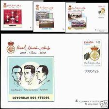 ESPAÑA SOBRE ENT.POST.2002 76 CENT.REAL CLUB IRUN 4v.