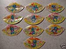 """Satz """"Die Dapsy Dino Family - Hütchen"""" 1997 alle 10 verschiedenen!!"""