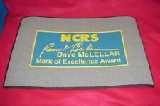 NOS NEW DAVE MCLELLAN NCRS CORVETTE AWARD RUG MAT DOORMAT BANNER  75-92