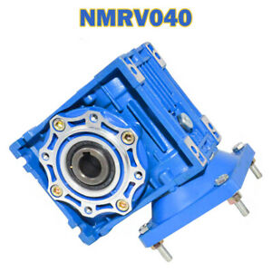 NMRV 040 Worm Gear Reducers Gearbox Speed Reduction Right Angle Ratios 5 to 100