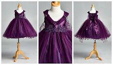 Flower Girl Bridesmaids Elegant Vintage Pageant Recital Girl Dress #33