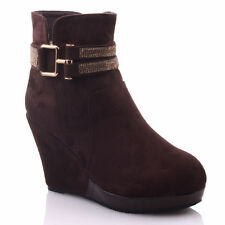 Zip Wedge Casual Women's Suede