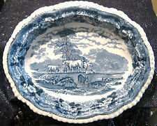 Adams China Cattle Scenery vegetable dish lovely item.  Approx 11 inches long