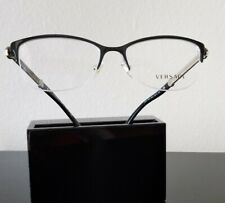 NEW Versace Eyeglasses Mod 1228  53-17-140  Black Gold Semi rimless womens