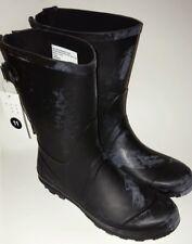 A New Day Brand Women Rubber Rain Boots Size 11 Black