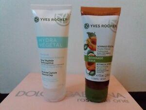 Lot yves rocher masque hydra végétal et gommage végétal abricot Neuf 75 ml