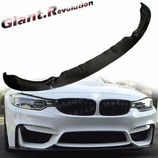Carbon Fiber Add On Front Bumper Lip For BMW 2015 On F80 M3 F82 M4 3D Look Wing