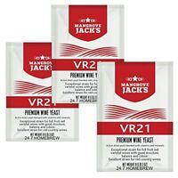 3 x MANGROVE JACK'S VR21 Wine Yeast 8g - Treats 23L - Full Fruit & Country Reds