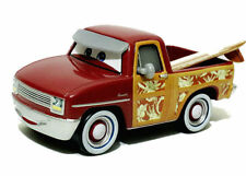 Mattel Disney Pixar Cars John Lassetire Red Surfing Safari Pickup Truc Rare 1:55