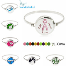 New Perfume Bangle Bracelet Essential Oil Aroma Mix Style Twist Diffuser Lockets