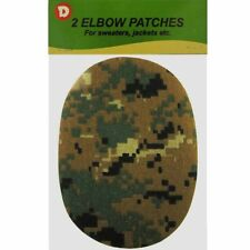 Two Duck Iron-On Elbow Patches 4.5  x 5.5 in - Forest Camo