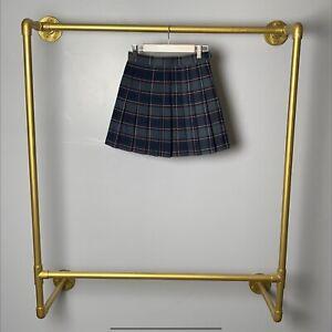 New American Apparel Plaid Tennis Skirt Pleated Cheerleader XXS Scottish