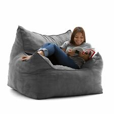 Big Joe 0551380 Imperial Lounger Cement Comfort Suede Plus, Bean Bag Chair New