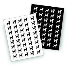 S SMALL CHIHUAHUA dog decal for pet owner bumper sticker or wall decor BW