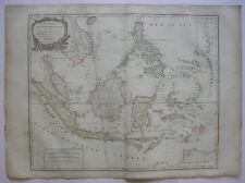 Indonesischer Archipel Asien Sumatra Orig Kupferstich R. Vaugondy 1680