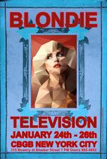 Blondie Rock Poster Cbgb New York City Television 1975 (Sold by Original Artist)