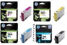 4 ORIGINAL HP INK CARTRIDGES 364XL CYAN MAGENTA YELLOW & 364 BLACK FAST POSTAGE