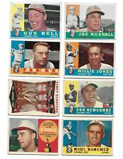 1960 TOPPS, CINCINNATI REDS, BILLY MARTIN AND 15 OTHER REDS CARDS