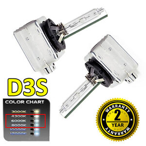 2 x 4300k D3S HID Xenon OEM Replacement Headlight Bulbs 66340 - 2 Year Warranty