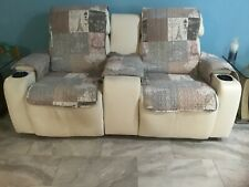"Pamperpet sofa/chair covers set/Patchwork print quilted/70""sofa/ 23""chair covers"